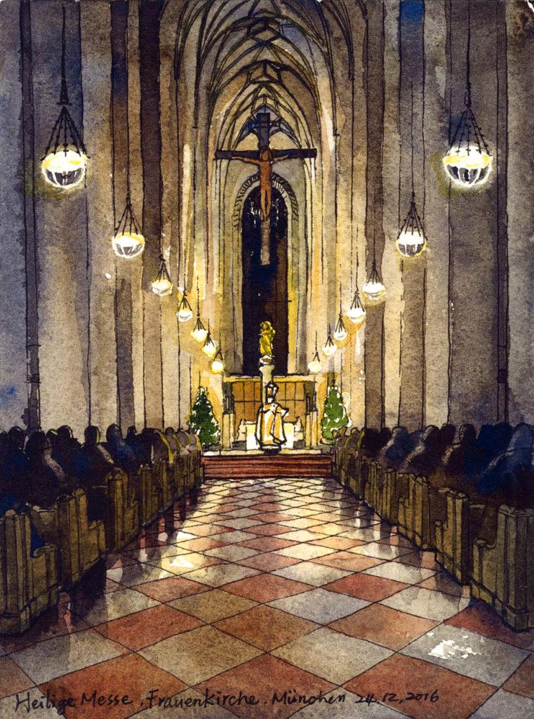 慕尼黑|聖母教堂的聖誕夜彌撒