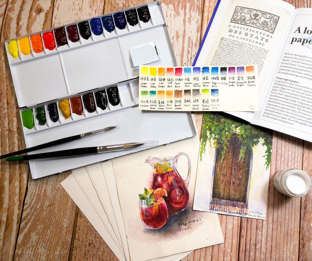 水彩教學1 水彩工具怎麼挑(上)-畫紙、顏料