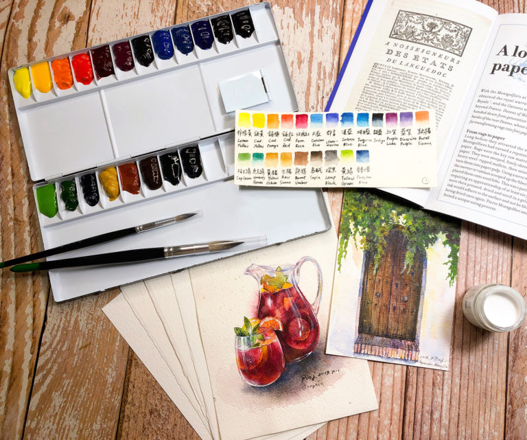 水彩教學1|水彩工具怎麼挑(上)-畫紙、顏料