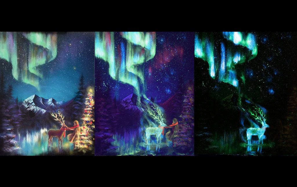 史上最齊全的隱形畫材料就看這篇!夜光畫跟螢光畫的差別在哪裡?可以一起使用嗎?